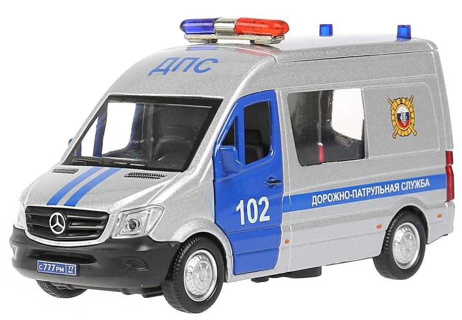 Машина 'mersedes-benz sprinter полиция' 14 см